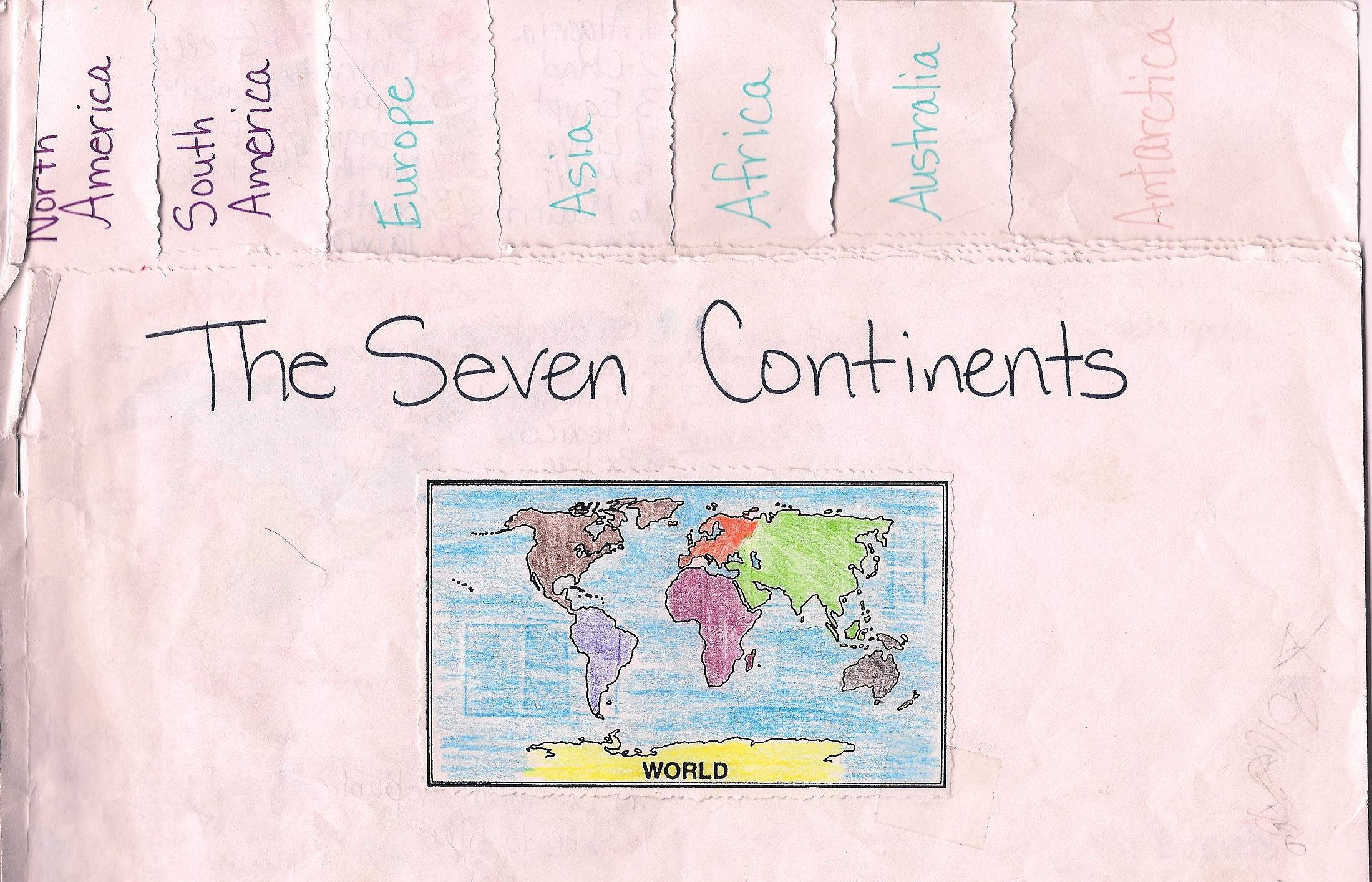 Foldables Social Stu S Continent Book