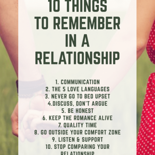 10 Things to Remember in a Relationship