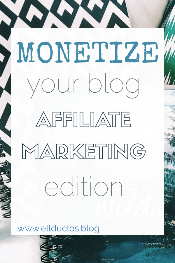 affiliate marketing monetize your blog