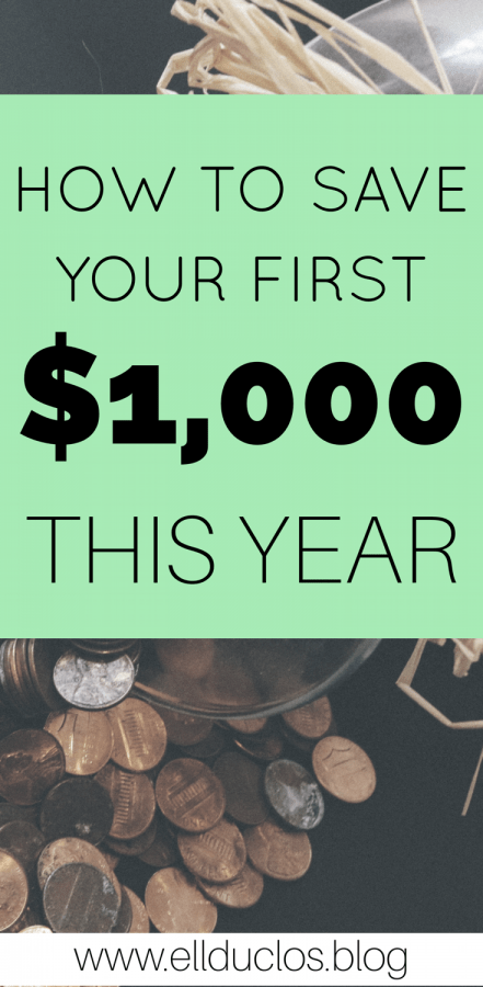 It's time to save your first $1,000 this year! All the budgeting and money saving tips you need.