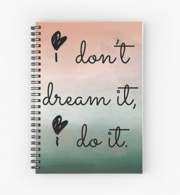 "Boss Girl Blogger ""I don't just dream it, I do it."" Notebook"