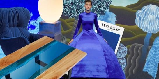 Το design φέτος λατρεύει το μπλε του Yves Klein Ο Γάλλος πρωτοπόρος των εικαστικών τεχνών δεν καθιέρωσε απλώς το όνομά του στο πιο μυστηριώδες και μαγικό χρώμα, αλλά άλλαξε για πάντα τον τρόπο με τον οποίο αντιμετωπίζουμε το μπλε.