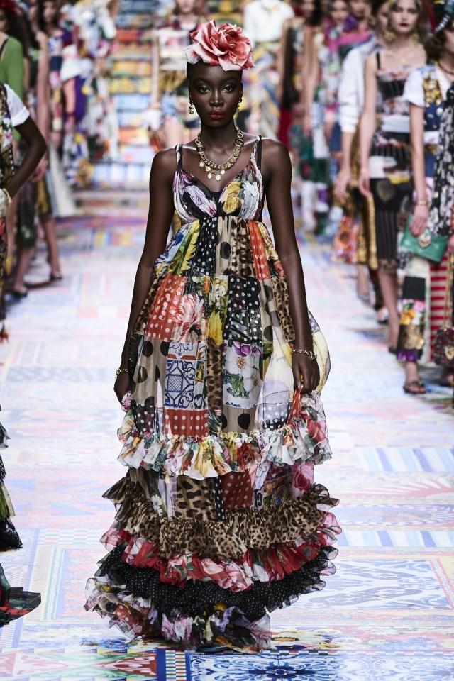 Δημιουργίες από την συλλογή Άνοιξη/Καλοκαίρι 2021 του οίκου Dolce & Gabbana.