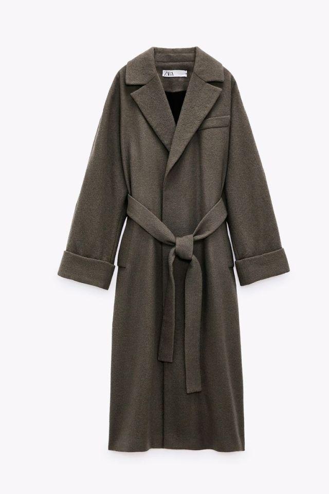 Παλτό με ζώνη, Zara.