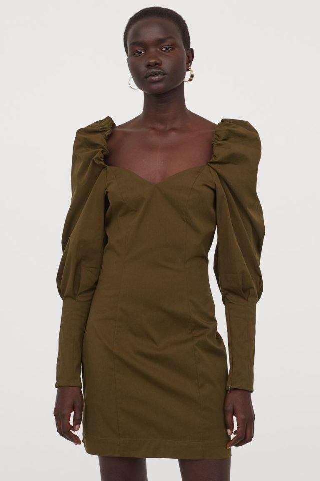 Φόρεμα με φουσκωτά μανίκια, H&M.