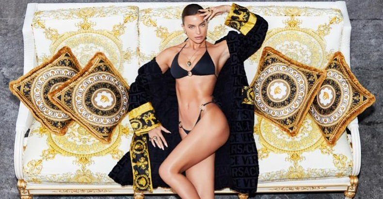 Η σούπερ σέξυ φωτογράφιση της Irina Shayk για τον οίκο Versace