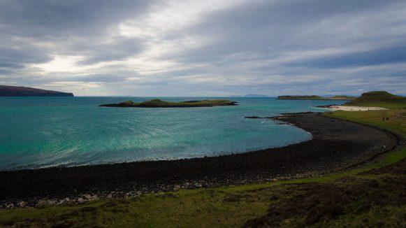 schwarzer Strand versus weißer Strand am coral beach Isle of Skye