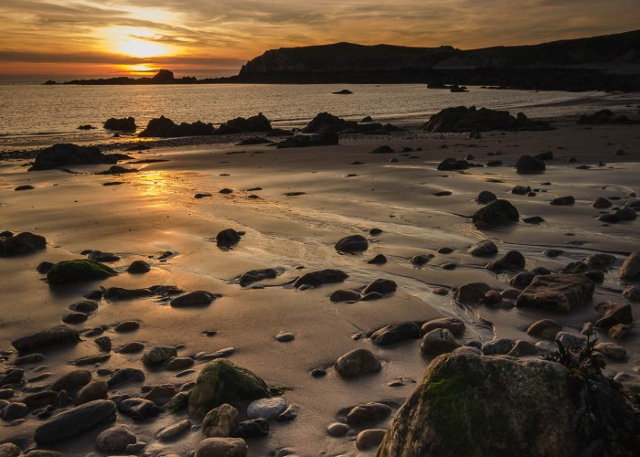 Sonnenuntergang in Anglesey, Wales