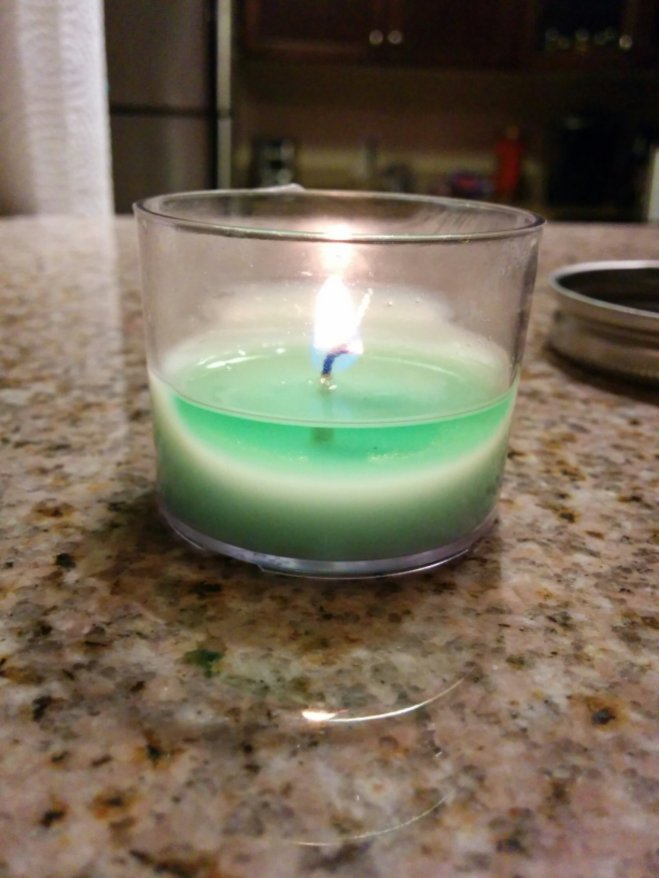 These soy candles will burn between 8 and 10 hours and cost less than one dollar to make.