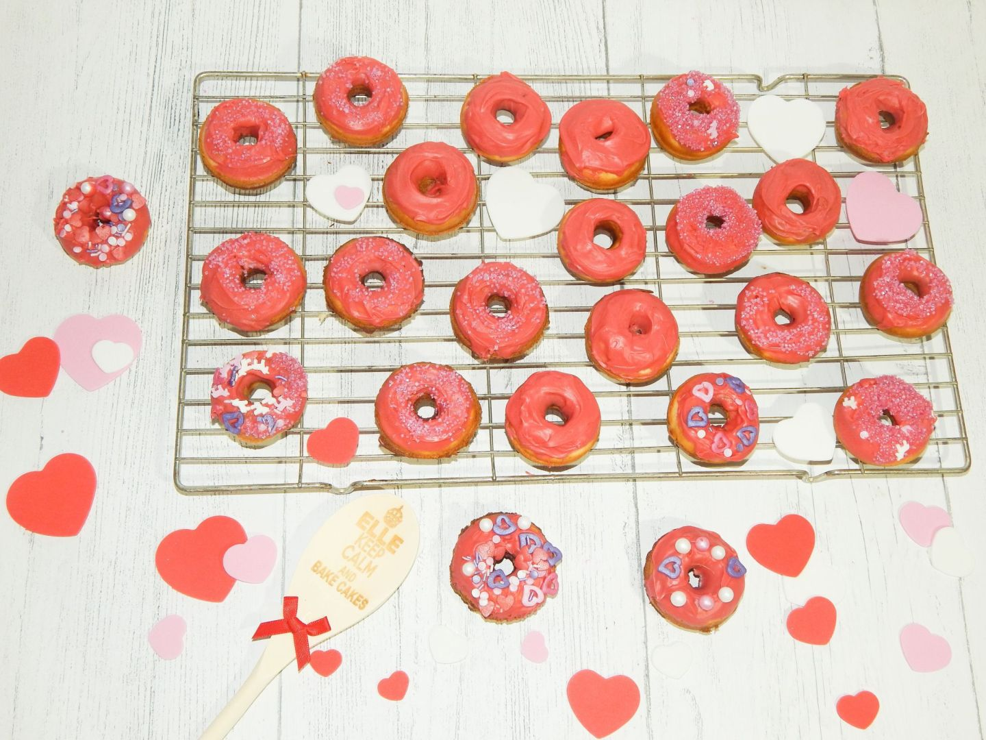 Homemade Valentines Day Inspired Doughnuts!