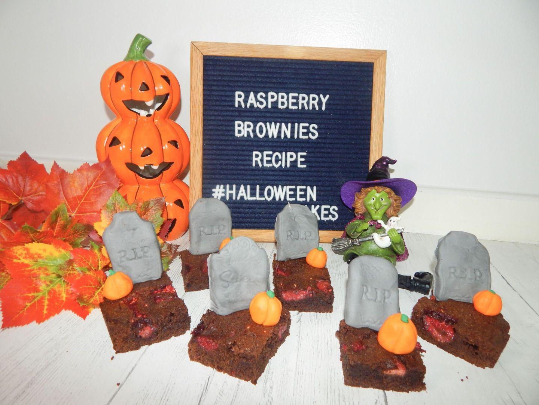 Raspberry Graveyard Brownies Recipe – Halloween Bakes!