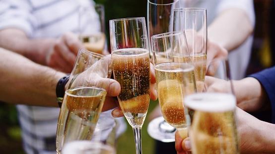 """""""Se offrite (o scegliete) delloChampagne sceglieteBollinger, Dom Perignon, Krug, Pol Roger, Moët &Chandon, Veuve Clicquot e Taittinger. IlProsecco ha conquistato una grande popolarità ma èsolo un sinonimo dinon posso permettermi di offrirvi lo Champagne""""."""