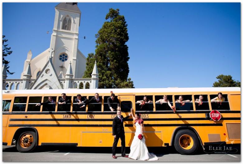 Santa Cruz Wedding, schoolbus