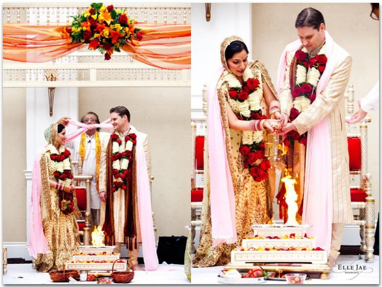 Hindu and Christian Wedding