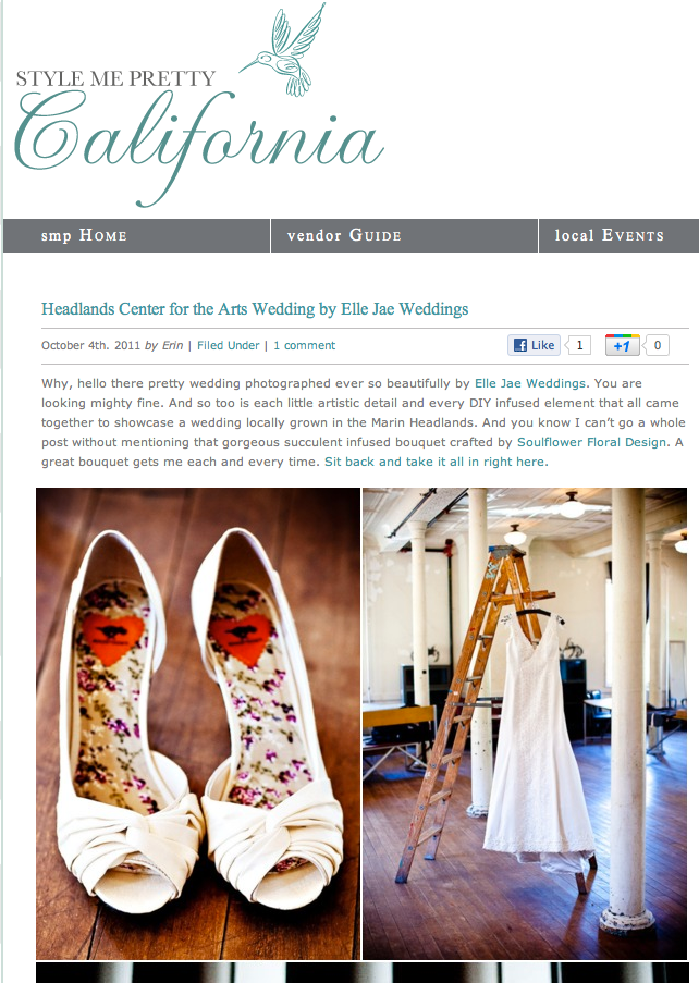 We have a wedding on Style Me Pretty today!