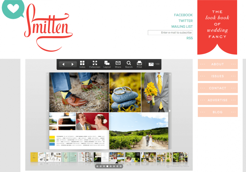 Yay!  We are featured in the new issue of Smitten.