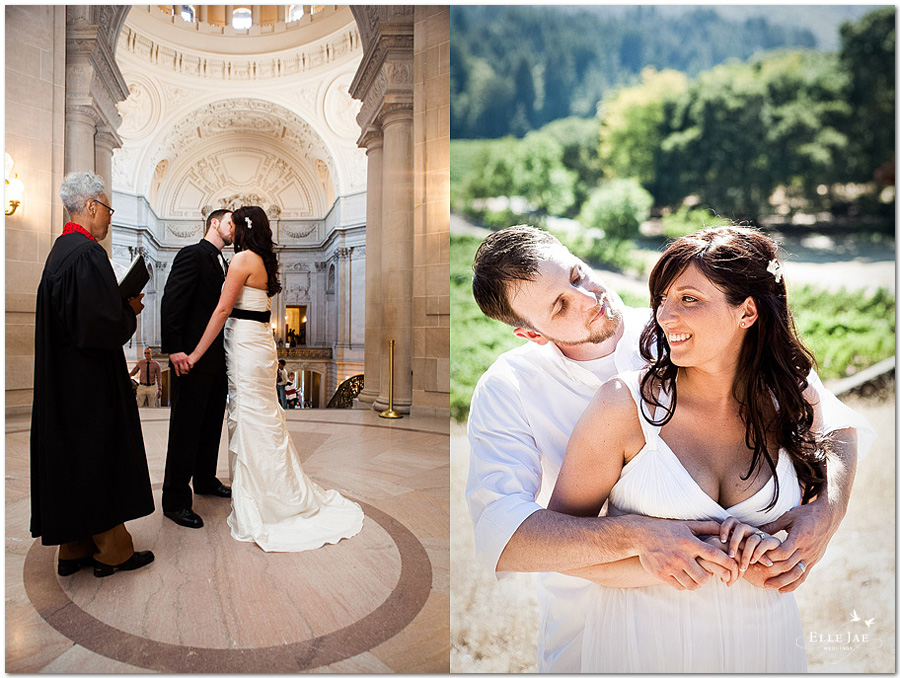 San Francsico City Hall and Jack London State Park Wedding