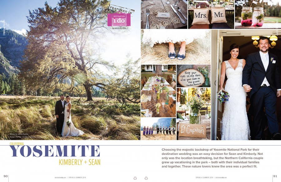 Kim & Sean's Yosemite Wedding- Featured in Destination I Do