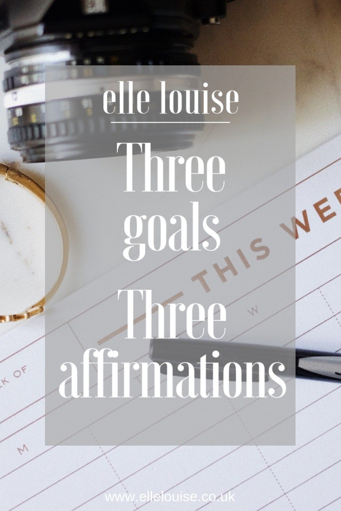 Goals & Affirmations for 2019