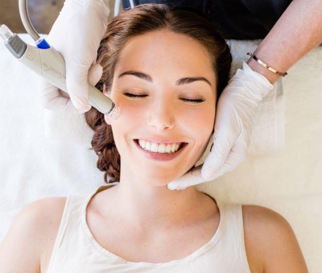 HydraFacial Treatment woman smiling