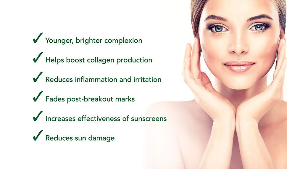 vitamin c skincare benefits infographic