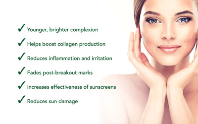 vitamin c skincare benefits infographic