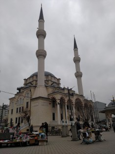 Xhamia e Zallit mosque in Mitrovica, Kosovo