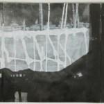 """Oilfield, 2007, 34.5"""" x 12"""", ink on paper"""