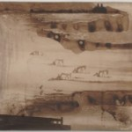 """From a Distance, 2008, 33"""" W x 11""""H, ink on paper"""
