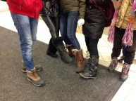 Don't forget warm boots! Good boots may be expensive, but you won't enjoy going outside if your feet are cold and wet!