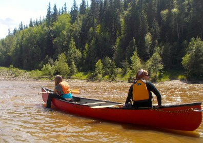 Starting out on the Pembina River