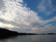 Sky during our evening paddle