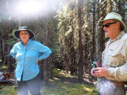 """""""Doug"""" and """"Cynthia"""" at trail's end"""