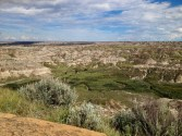 The badlands continue for a long way.