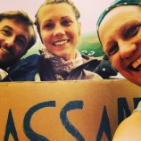 French hitchhikers who are travelling across Canada