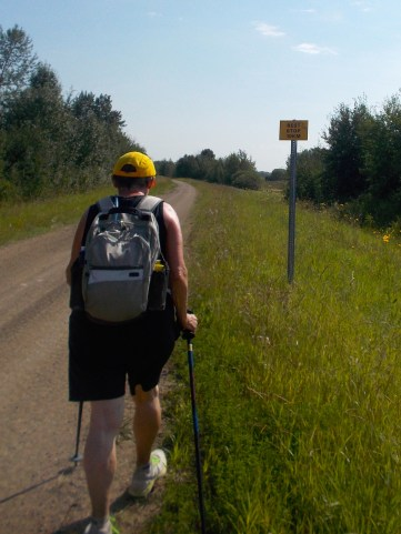 10 kilometres to the staging area.
