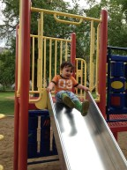 Slide at the playground