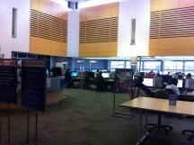 Computer lab: large monitors!