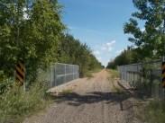 There are a few short trestle bridges/