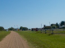 Bellis staging area includes a paddock, hitching area for horses, as well as an outhouse