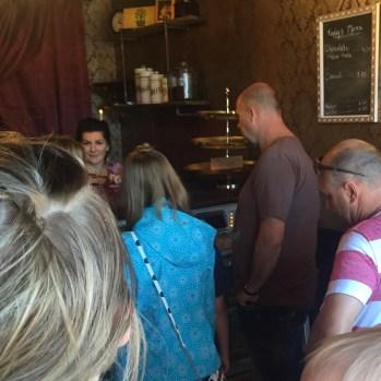 Lineup at Sweet Capone's Italian bakery, Lacombe