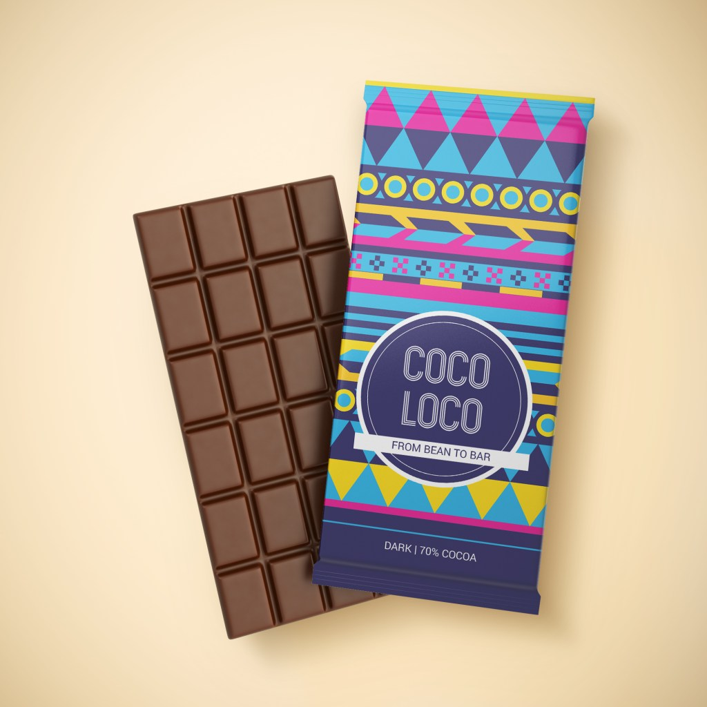 Chocolate packaging for Coco Loco