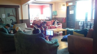 About how social staying in a hostel is...
