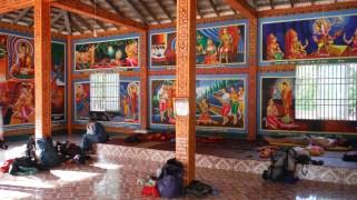Inside the pagoda where we slept
