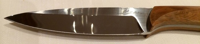 One of the beautiful hand-crafted steak knives made locally, perfect for local game at the Hôtel des Horlogers