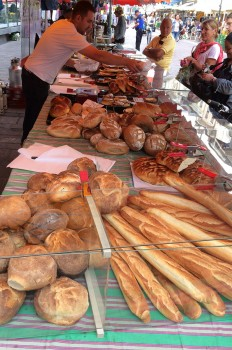 Bread at the weekly market in Morges, Vaud