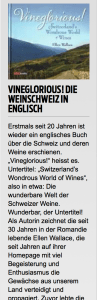 Blick's review of Vineglorious! Switzerland's Wondrous World of Wines