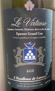 """Le Virtuose"" red blend from Blondel-Duboux in Epesses"