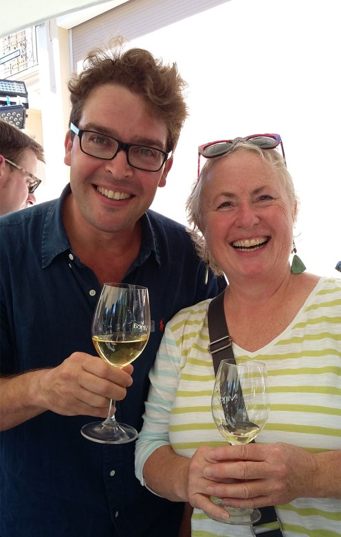 Derek Shaw came up and introduced himself as a big fan of my book on Swiss wines, Vineglorious! - what author can resist a request for a photo after that, right?