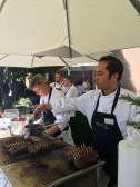 Great food from Zermatt chefs for the VIPs